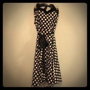 Dress tells pin up polka dot halter dress vintage